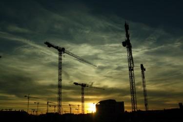 construction dusk stock