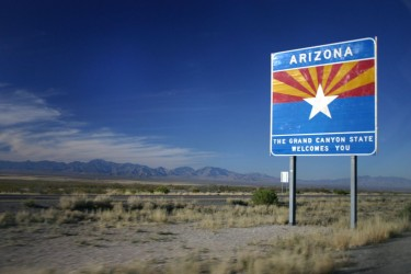 Welcome to Arizona highway sign