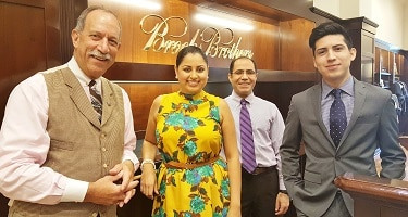 (LtoR) Brooks Brothers Biltmore Fashion Park associates Robert Rosenthal, Paloma Guerrero, Mohammad Asadpour and Andt Contreras. (Photo by Josh Coddington/GPCC)