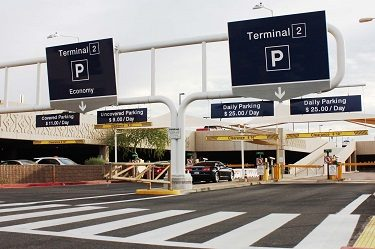 Parking at Phoenix Sky Harbor Airport.