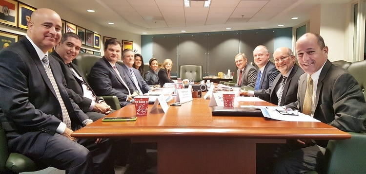 The Greater Phoenix Chamber of Commerce's annual Executive Dialogue Delegation prepares to hear policy presentations in Washington, D.C. (Photo by Josh Coddington/GPCC)
