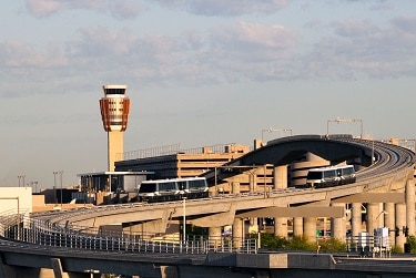 The track for Sky Harbor's PHX Sky Train®, the first phase of which opened in April 2013. (Photo Courtesy of Sky Harbor International Airport).