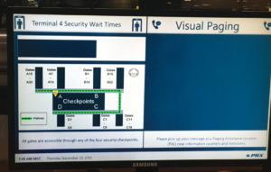 SkyHarbor_Checkpoint wait times_visual paging screen
