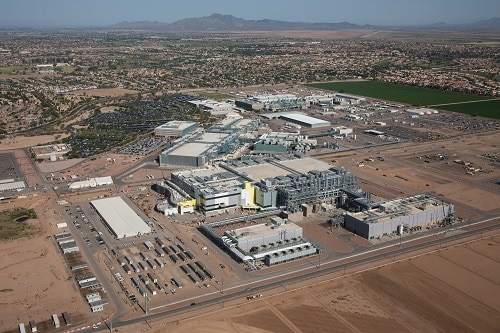 Intel Corporation on Tuesday, Feb. 8, 2017, announced plans to invest more than $7 billion to complete Fab 42. On completion, Fab 42 in Chandler is expected to be the most advanced semiconductor factory in the world. (Credit: Intel Corporation)