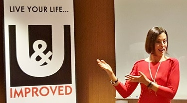 "Jodi Low, founder & CEO of U & Improved leadership development company, conducts her Empowerment Series workshop ""Having It All"" on Feb. 2, 2017. (Photo by Josh Coddington/GPCC)"