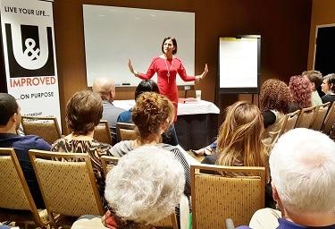"Jodi Low, founder & CEO of U & Improved leadership development company, conducts her Empowerment Series workshop ""Having It All"" on Feb. 2, 2017. (Photo by Josh Coddington/GPCC)"